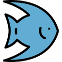 fish, Animals, Supermarket, food, Animal, meat, Meats, fishes, Foods CornflowerBlue icon