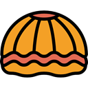 ocean, Animals, nature, Shellfish, shells, Mollusk, Shell, Scallop, Sea Life Goldenrod icon