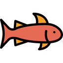 fish, fishes, Animal, meat, Foods, Meats, food, Supermarket, Animals Black icon
