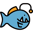 Foods, meat, Meats, Animal, Supermarket, food, fish, fishes, Animals CornflowerBlue icon