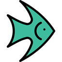 fish, Animal, Animals, fishes, Supermarket, meat, Meats, food, Foods Black icon