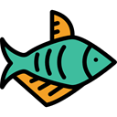 fish, Animals, Foods, Supermarket, fishes, Animal, meat, Meats, food Black icon