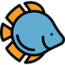 Animals, meat, Meats, Foods, Animal, Supermarket, food, fishes, fish CornflowerBlue icon