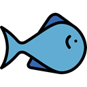Animal, Foods, Supermarket, Meats, fish, meat, fishes, food, Animals CornflowerBlue icon