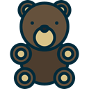 Animal, Valentines Day, Fluffy, teddy bear, childhood, puppet, miscellaneous, Animals DarkOliveGreen icon