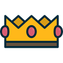 Chess Piece, shapes, miscellaneous, Royalty, king, Queen, crown Black icon