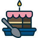 Candles, Food And Restaurant, Cakes, birthday, Bakery, cake, Birthday Cake, food MidnightBlue icon