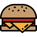 Fast food, junk food, meat, Burger, food, Cheese Burger, hamburger, Bread Icon