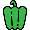 vegetable, Bell Pepper, vegan, food, Healthy Food, organic, vegetarian, diet LimeGreen icon