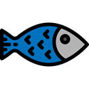 Healthy Food, diet, food, Animal, fish, organic, Sea Life Black icon