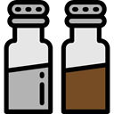 Salt, Spicy, Cooking, pepper, Condiment, food, Spices Black icon