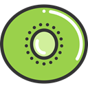 diet, food, Fruit, vegetarian, Food And Restaurant, organic, vegan, Kiwi, Healthy Food YellowGreen icon
