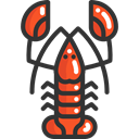 food, Sea Life, Animals, lobster, Animal, Food And Restaurant DarkSlateGray icon