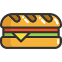food, Bread, sandwich, snack, meal, Lunch, Food And Restaurant DarkSlateGray icon