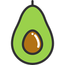 Food And Restaurant, vegetarian, food, organic, diet, Healthy Food, Fruit, vegan, Avocado YellowGreen icon