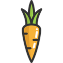 organic, Healthy Food, vegetarian, Food And Restaurant, food, Carrot, vegetable, diet, vegan Black icon