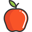 organic, Healthy Food, Fruit, food, vegan, diet, vegetarian, Apple, Food And Restaurant Tomato icon
