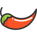 Spicy, vegetarian, food, pepper, hot, Chili, organic, Chili Pepper, vegan, Food And Restaurant Black icon