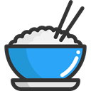 food, Bowl, rice, Chinese Food, Food And Restaurant, Japanese Food DarkSlateGray icon