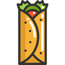 food, meat, Burrito, Fast food, Mexican Food, Food And Restaurant, Tortilla Black icon