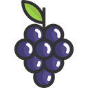 Food And Restaurant, grape, Bouquet, Grapes, Berry, food, Fruit, Berries, fruits Black icon
