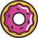 sweet, baker, doughnut, food, Dessert, donut, Food And Restaurant DarkSlateGray icon
