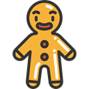 cookie, gingerbread, food, Bakery, sweet, Dessert, Food And Restaurant, gingerbread man Icon