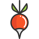 radish, diet, Healthy Food, vegetarian, food, organic, vegetable, vegan, Food And Restaurant Black icon