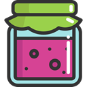 jam, food, Jar, Food And Restaurant, Conserve, breakfast DarkSlateGray icon