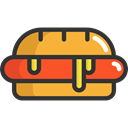Sausage, food, Food And Restaurant, Fast food, junk food, Hot Dog Black icon