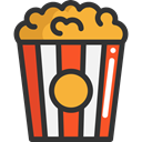 Salty, Fast food, snack, cinema, popcorn, Food And Restaurant, food DarkSlateGray icon
