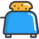 Food And Restaurant, Toaster DodgerBlue icon