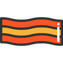 grilled, meat, Proteins, food, Barbecue, Bacon, Food And Restaurant Black icon