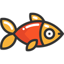 food, fish, Healthy Food, Animal, Food And Restaurant Black icon