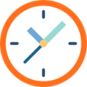 networking, Tools And Utensils, Clock, time, timer DarkOrange icon