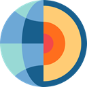 science, nuclear, earth, education, physics CornflowerBlue icon