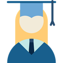 Cap, woman, education, mortarboard, people, Girl, Graduate Teal icon