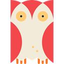 hunter, bird, Animals, owl AntiqueWhite icon