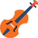 Violin, String Instrument, musical instrument, music, Orchestra DarkOrange icon