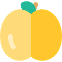 food, Peach, organic, diet, Fruit, vegan, Healthy Food, Food And Restaurant, vegetarian Gold icon