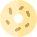Dessert, sweet, baker, donut, doughnut, Food And Restaurant, food Bisque icon