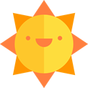 sun, Summertime, summer, weather, warm, Holidays, nature, Sunny, meteorology Gold icon