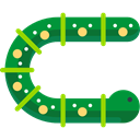 Caterpillar, Animals, insect, Animal Kingdom, worm ForestGreen icon