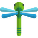 Animals, Animal Kingdom, Dragonfly, insect, wings, bug Black icon