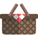 Picnic, Basket, entertainment, Supermarket, Baskets, Picnic Basket, Business DarkOliveGreen icon