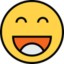 emoticons, feelings, Emoji, joke, Smileys, laugh SandyBrown icon