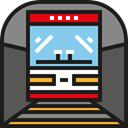 transportation, Public transport, transport, Metro, underground, tube, train DimGray icon