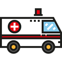 vehicle, Ambulance, transportation, Automobile, medical, emergency, transport Black icon
