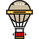 transportation, Flying, transport, travel, hot air balloon Black icon