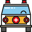 transport, Ambulance, emergency, transportation, vehicle, Automobile, medical Black icon
